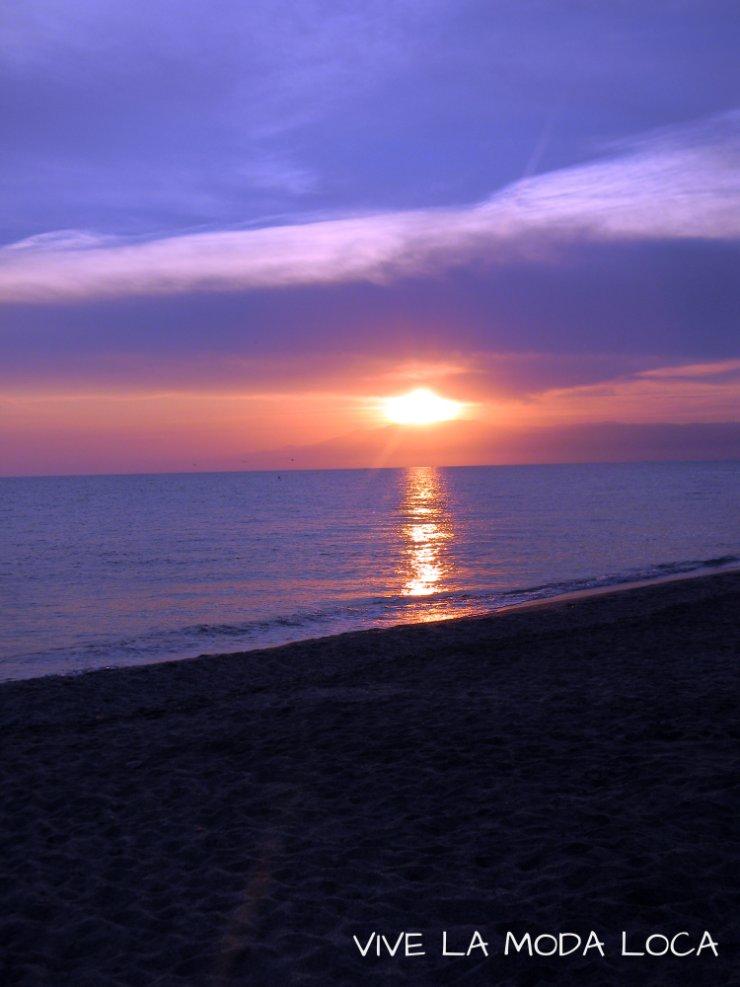 Puesta de sol. Torregarcia. Cabo de Gata. Nijar.
