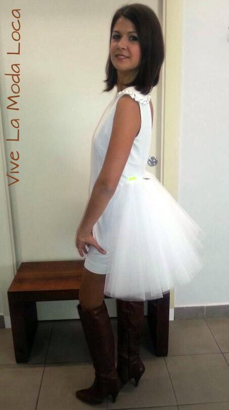 Vestida de Beatriz Peñalver. Trandy Room Almeria